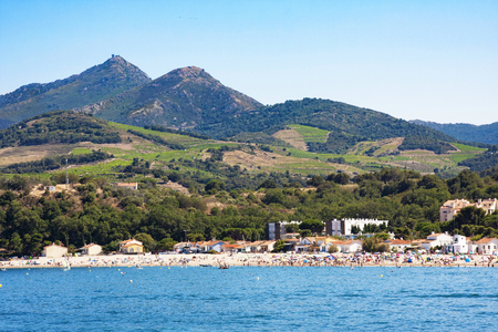 Argeles-sur-Mer in Pyrenees-Orientales department, Languedoc-Roussillon region, in southern France 免版税图像
