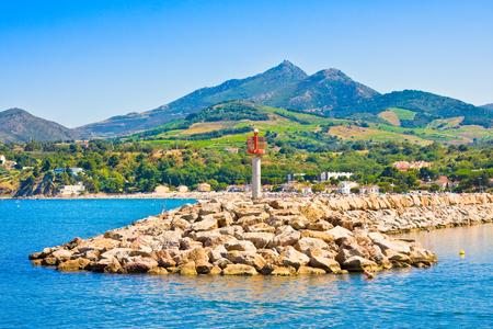Port Argelès-sur-mer dans le département des Pyrénées-Orientales, région Languedoc-Roussillon, dans le sud de la France