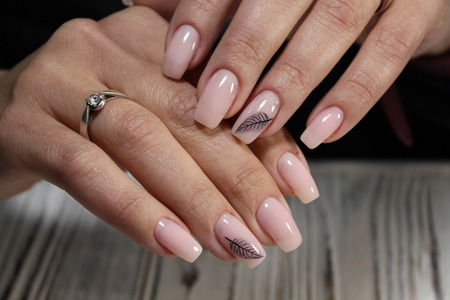 best pink manicure on beautiful long nails