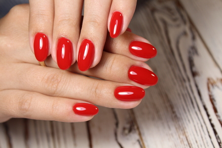 beautiful manicure design on a stylish background Banque d'images