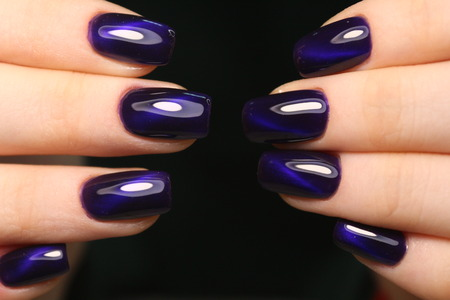 fashion manicure nails Stock Photo