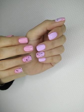 beautiful manicure of nails