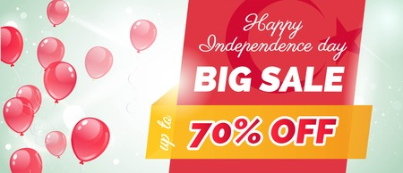 independency: 29 ekim Cumhuriyet Bayrami, Republic Day Turkey. 29 october Republic Day Turkey and the National Day in Turkey. Independence Day sale banner template design. Illustration