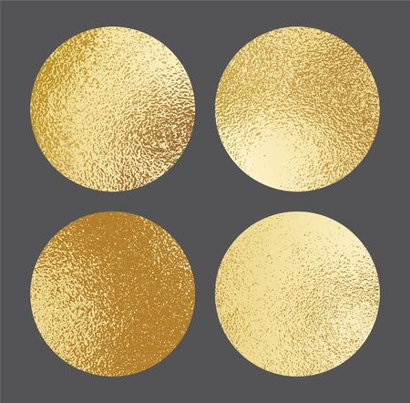 gold textured background: Set of shiny gold foil textures. Golden background template for invitations, posters, cards.Vector illustration
