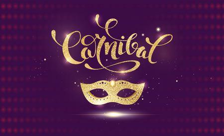 venice: Golden carnival design.