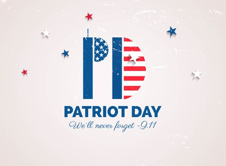 Patriot day poster. We will never forget 11 september.  Vector  illustration