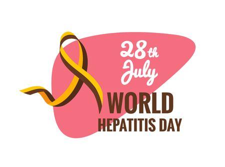Hepatitis Awareness Ribbon banner.