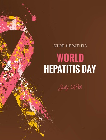infected: Hepatitis Awareness banner. Illustration