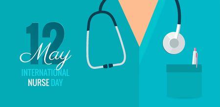 International Nurse day banner. Stock Illustratie