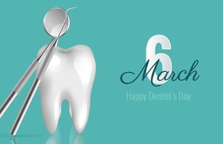 Dentist`s day banner concept.
