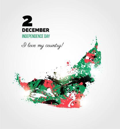 2 december uae independence day greeting card holiday background uae independence day greeting card holiday background with colorful united arab emirates m4hsunfo