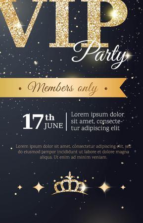 Prämie Einladungskarte-Plakatflieger Der VIP-Partei Mit Kurvendem ...