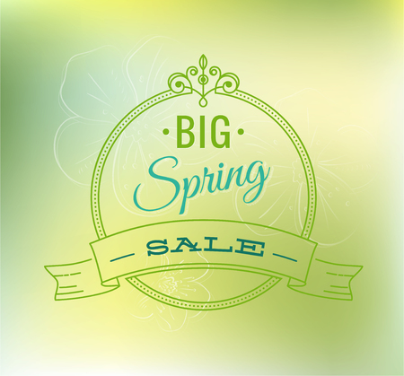 Big spring sale typography poster - Vector illustration. All elements can be edited to fit your layout.Sale background. Big sale. Sale tag. Sale poster.Eps 10 Illustration