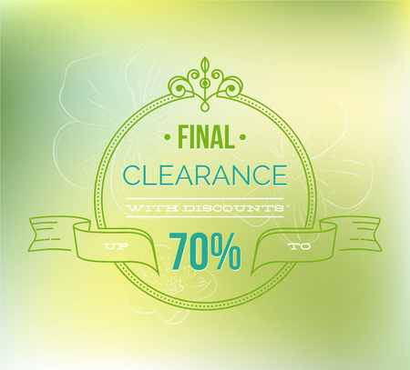 Final clearance typography poster - Vector illustration.Spring sale background. Big sale. Sale tag. Sale poster.Eps 10 Illustration