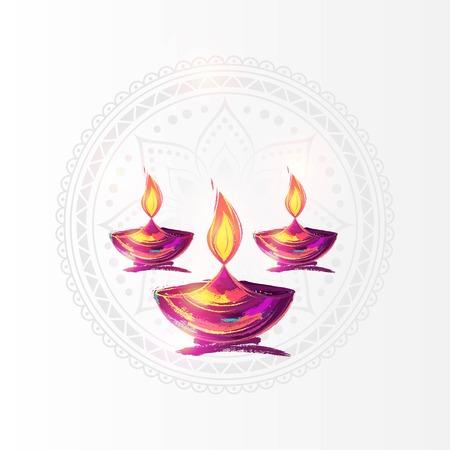 Diwali festival poster. Ilustrace