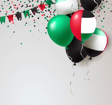 アラブ首長国連邦の独立記念日のグリーティング カードのコンセプト デザイン。  イラスト・ベクター素材