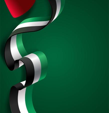 UAE Independence Day greeting card concept design. Illustration