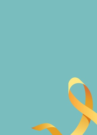 Childhood Cancer Awareness Ribbon. Vector illustration Illustration