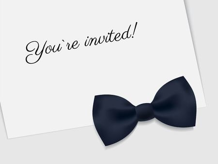 VIP premium horizontal invitation card.   Black tie event invitation design template. Vector illustration 向量圖像