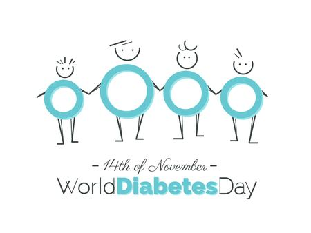14th of November world diabetes day awareness poster. Vector illustration