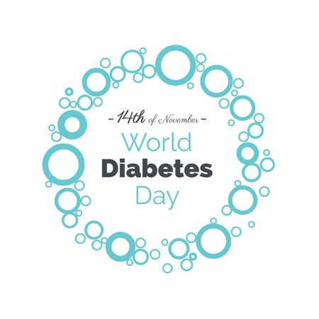 14th of November world diabetes day awareness poster. Vector illustration