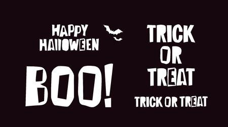 Halloween typographic design elements. Vector illustration