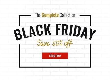 Black friday sale poster. Vector illustration. Ilustração
