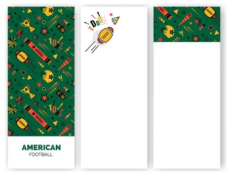 American football abstract banners in 80s  style.