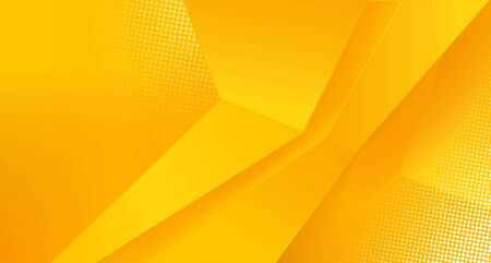 Abstract 3d Yellow Background. Vector Illustration