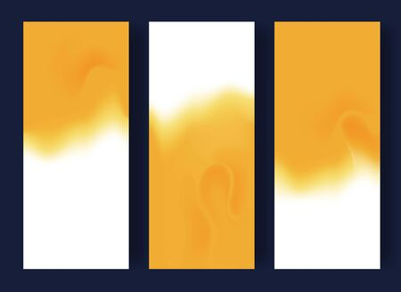 Abstract blurred banners in white and yellow colors. Sand summer concept. Vector illustration