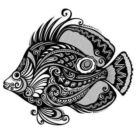 Fish  Patterned design Vector