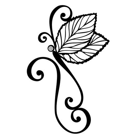 ベクター美しいトンボ、エキゾチックな昆虫柄デザイン、タトゥー  イラスト・ベクター素材