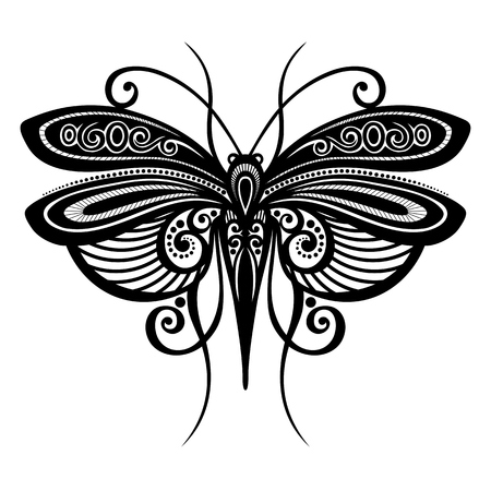 dragonfly wing: Vector Beautiful Dragonfly, Exotic Insect  Patterned design, Tattoo Illustration
