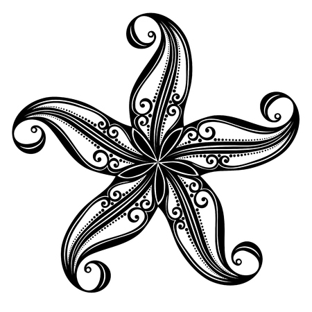 Vector Abstract Sea Starfish  Patterned design Vector