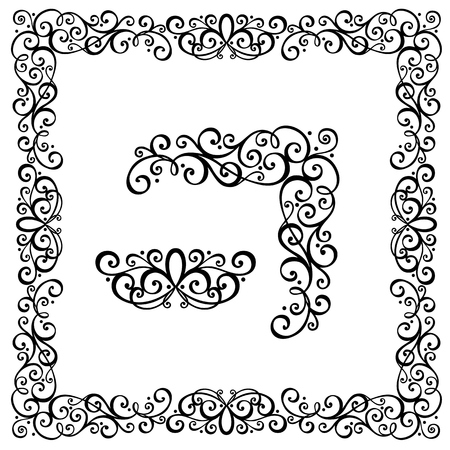 Decorative Frame astratto, ornamento Vector Decorative angolo Archivio Fotografico - 26235013