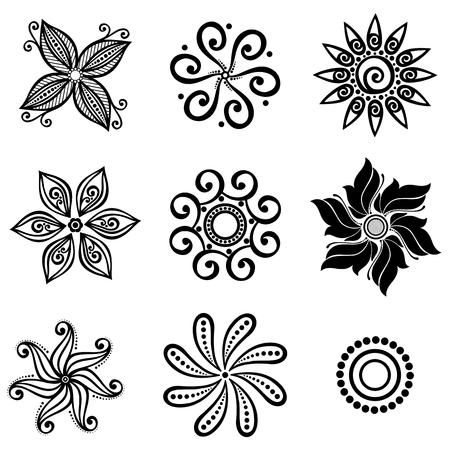 Set Deco Small Circles  Design elements Vector