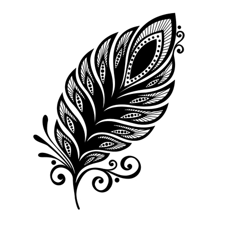 peerless: Peerless Decorative Feather  Vector