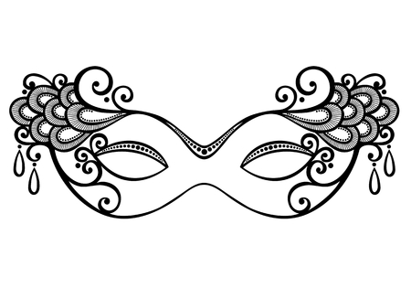 femme masqu�e: Belle mascarade masque vectorielle, la conception model�e Illustration