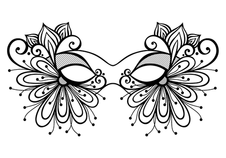 beauty mask: Beautiful Masquerade Mask  Vector , Patterned design Illustration