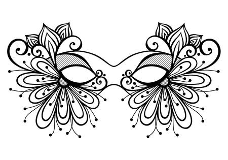 Hermosa máscara de la mascarada vectorial, diseño de modelado Foto de archivo - 26470446