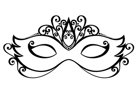 Beautiful Masquerade Mask Vector , Patterned design