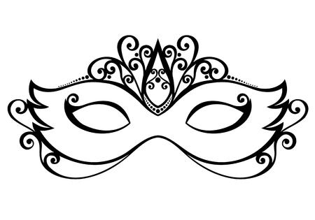 mascara de teatro: Hermosa m�scara de la mascarada vectorial, dise�o de modelado Vectores