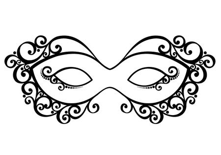 mascaras de carnaval: Hermosa máscara de la mascarada vectorial, diseño de modelado Vectores