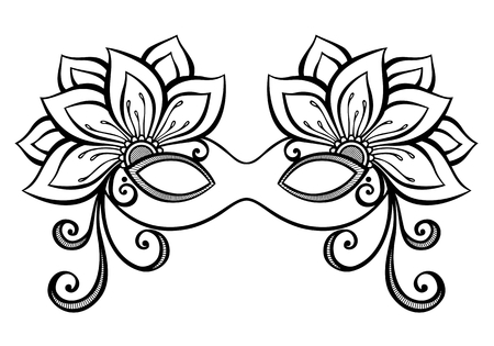 Beautiful Masquerade Mask Vector , Patterned design
