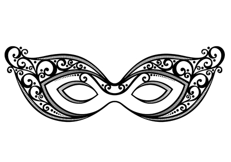 Beautiful Masquerade Mask  Vector , Patterned design Vettoriali