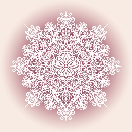 Beautiful Decorative Snowflake  Vector , Patterned design Vector