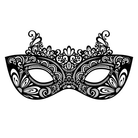 아름다운 무도회 마스크 벡터, 무늬 디자인