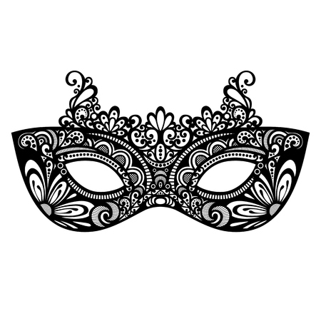Beautiful Masquerade Mask  Vector , Patterned design Ilustração
