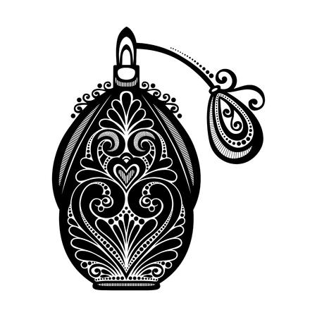Vector dekorativ verzierten Parfüm Standard-Bild - 26529754