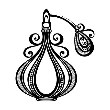 Vector decorativo adornado Perfume